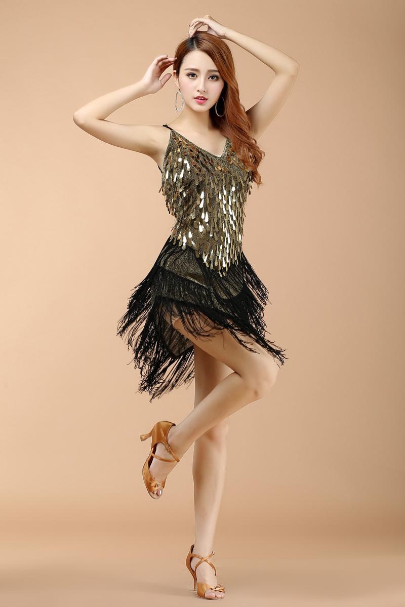 レディース用 1920年代風 フラッパー スパンコール タッセル フリンジ 付き チャールストン パーティー ヴィンテージ風 ドレススパンコールフリンジ ワンピース ダンス衣装 フリンジワンピ