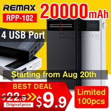 🌟Big Capacity Powerbank🌟Remax RPL-102! NOTE 30000mAh🌟2.1A fast charging🌟LOWEST PRICE