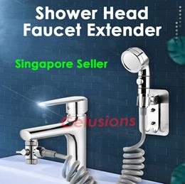 Shower Head Faucet Water Tap Extender Hose Toilet Spray Holder Singapore Seller
