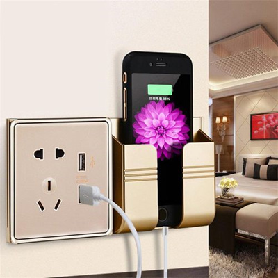 Mobile Phone Charger Dock DIY Wall Charging Holder Bracket Stand Mount for iPhone Samsung Xiaomi