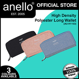 ANELLO (AU-H1153) HIGH DENSITY POLYESTER LONG WALLET