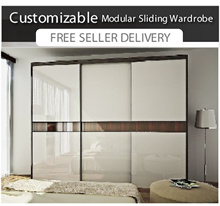 SOLID PLYWOOD Customizable Modular Wardrobe | 5 -7ft length | 5 Internal Configuration |