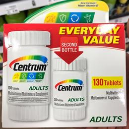 미국 센트룸 성인 어덜트 130정 비타민 영양제  Centrum Adults Under 센트롬