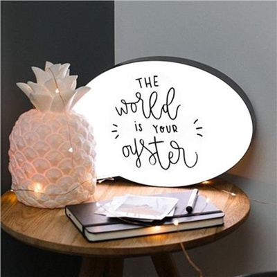Cute DIY Lightbox Cinematic Light Box Massage Board Decorative Sign With LED Light and Pen For Home