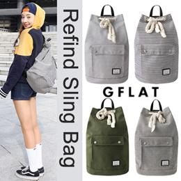 [GFLAT] Refind Sling Bag / 4 Colors / GF_BP1703-18 / Korea Best Selling Item