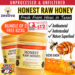 ★★HONEST RAW HONEY★100% USA HONEY★Bundle of 2x1.24KG FREE 1x623G★★