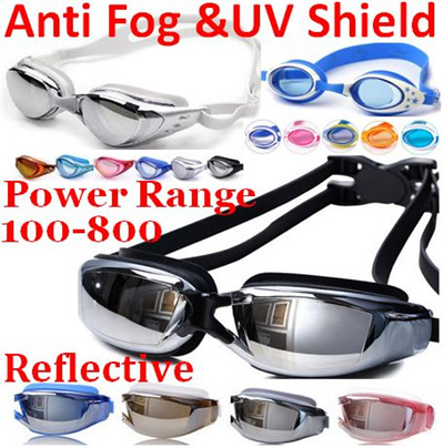1c08ac6bf00 Reflective Anti fog UV shield Adult kids Professional Swimming Goggles Power  Degree Diving goggles  Rating  0  Free  S 7.90