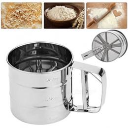 DIY Baking Stainless Steel Silver Mesh Flour Sieve Sifting Strainer Cake Baking Kitchen