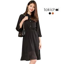 TOKICHOI - Button-down Chiffon Dress-180241