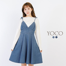 YOCO - Denim Babydoll Dress-171859-Winter
