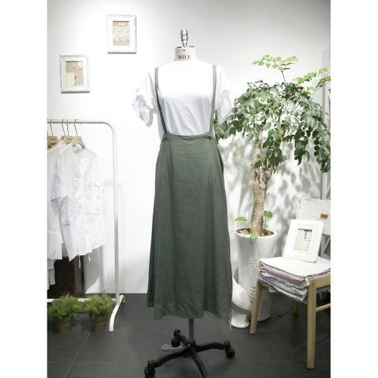 スタジオホワイトスカートリンネンロングサスペンダーMC621S992 面ワンピース/ 韓国ファッション
