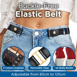 [Free Shipping]Buckle-Free Elastic Belt Buckle Free No Buckle Stretch Belt Womens Plus Belts for Jea