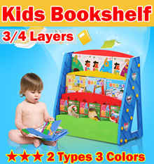 3/4 Layers Kids Bookshelf/Children Bookshelves/ Book Shelf Shelves/Case Bookcase Organizer