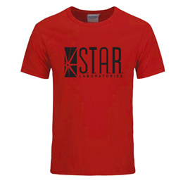 store STAR labs new fashion T shirt men summer tops tees jumper the flash gotham city comic books su