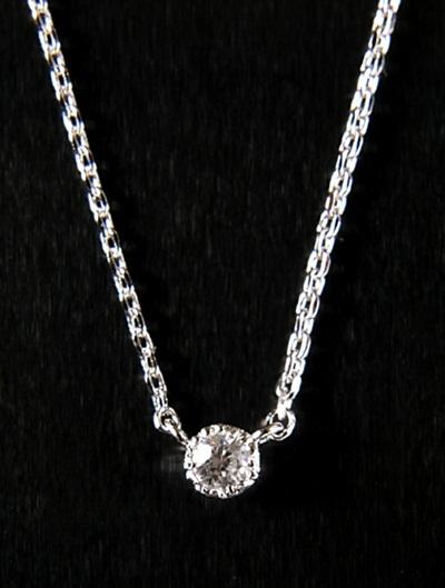 Qoo10 Necklace Women S Cubic Zirconia Simple 1 Stone Design