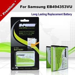 Long Lasting Battery For Samsung EB494353VU Wave 2 Pro GT-S5330 Battery