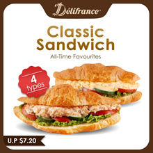 Classic Sandwich CROISSANT with Egg /Chicken /Tuna or Seafood