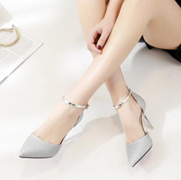 a330e81813f Bridesmaid high heels wedding shoes sequined crystal shallow mouth bridal  shoes