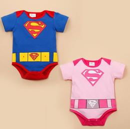 Ready Stock Super Man / Girl   Baby New Born Romper Onesie