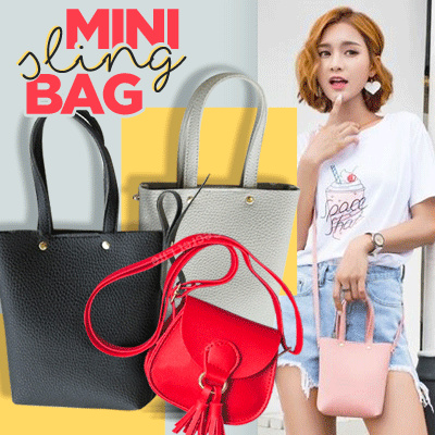 MINI Sling Bag 19 Design Now Deals for only Rp19.000 instead of Rp19.000