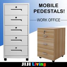 Mobile Pedestals! ★Office Furniture | Bedside Table ★Cabinet/Organizer/Storage/Bookshelf