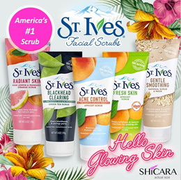 1 FOR 1 St Ives Face Scrubs  -  Hello Smooth Glowing Skin!