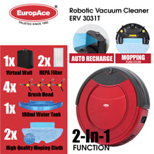 *1200PA STRONG* 2-in-1 Robotic Vacuum Cleaner (Dry and Mop) ERV 3031T - 15 MONTHS WARRANTY