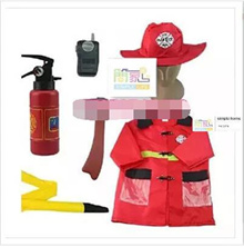 1 Set Kid Child Halloween Cosplay Firefighter Fireman Costume Free Size