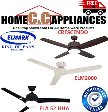 Elmark ELM 2000 Ceiling Fan | Optional light kit  and Remote Control |