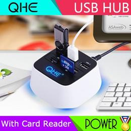 ★Quick Delivery★ QHE QHUB-1 High Speed USB HUB Splitter With Multifunction Card Reader HUB Extension Converter Hub White Asus /Gigabyte / Kingston / Sandisk / Seagate / Western Digit