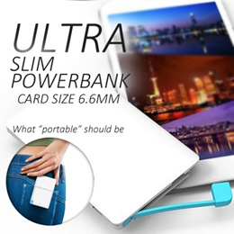 ★SG Stock★Ultra Slim Power Bank★Card Size★2500 / 5000 mAh★Light Weight★Store in Wallet/Pocket★Samsung Xiaomi HTC LG Sony★Credit Card Sized Powerbank★