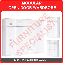 MODULAR OPEN DOOR WARDROBE (2/3/4/5/6/7/8 DOOR AVAIL)