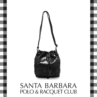 22399e587455 Santa Barbara Polo and Racquet Club Lamb Skin Bucket Bag