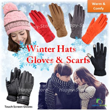 LADIES AND MEN/ WINTER TOUCH SCREEN GLOVES/ SCARFS/ HATS/ INNER FUR/ WARM/ COMFY/ WINTER WEAR