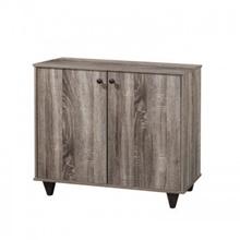 2 Sides Simple Modern Design Home Economy Wooden Sonama Oak Dark Shoes Cabinet (SC159)
