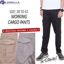 New Working Cargo Pants!! Size 28 to 42!! Multi Colour x Multi Pocket x Durable x Good for Work!!