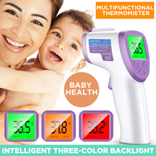 Non Contact Infrared Body Forehead Baby Adult Thermometer/Infrared Thermometer/English manual button