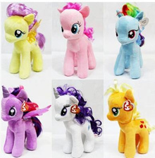 Genuine United States TY Little Pony PONY Rainbow Horse Unicorn My LittlePony Plush Toy Doll