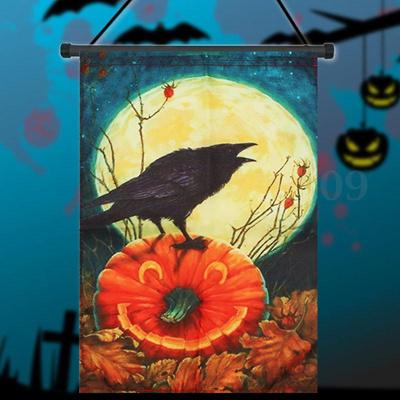 """Don/'t Get Cawwed Garden Flag Halloween Bats Full Moon Crows 12.5/""""x18/"""" Evergreen"""