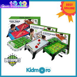 [United Sports] 🎉ONLY$29.99🎉[20/24-inch Wooden Soccer/Football Pool/Billiard Air Hockey Rod Table Game Table Top Game Series