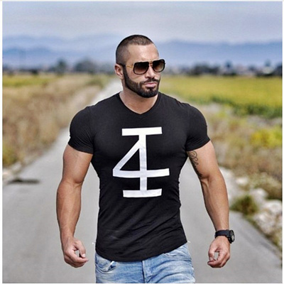 4INVICTUS Men Summer style T-shirts Fitness Bodybuilding Slim fit T Shirt  Fashion fashionable Male