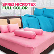 SPREI SET BAHAN MICROTEX MOTIF FULL COLOR POLOS