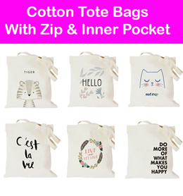 12.12 Promo!!Cotton Tote Bags/ Canvas / Shoulder Sling/ Supermarket Bag/ Reusable/ Recycle