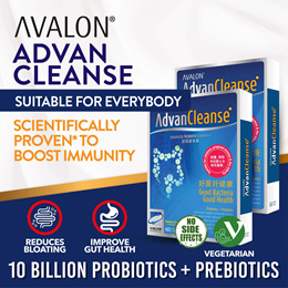AVALON AdvanCleanse | 10 Billion Live Probiotics + Prebiotics | Suitable for all Ages