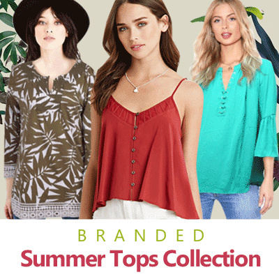 New Collection Branded Summer Tops Collection Deals for only Rp65.000 instead of Rp65.000