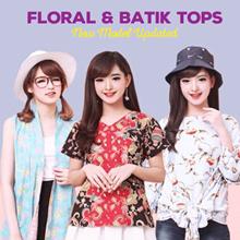 [20 MAR] Flower Embroidery-Cut Off Shoulder Shirt Dress Jacket-Tunik Bordir- Blouse Dress