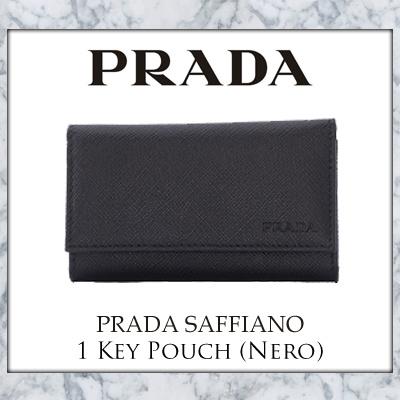 5ac1953dc84591 Qoo10 - Prada Saffiano 1 Key Pouch (Nero) : Bag & Wallet