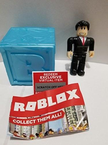 ROBLOX Series 3 Bloxburg Car Salesman action Figure mystery box + Virtual  Item Code 2 5