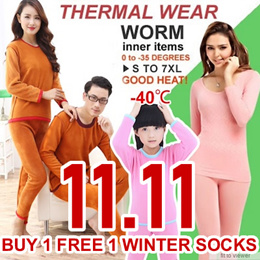 【Free Shipping】UPDATE 2015 CNY GIFTS Winter Thermal Inner Wear(Thick)0 to -45 degree PANT+SHIRTS Leggings celsius/Couple Warm Clothing Innerwear Unisex Underw PLUS SIZE XL-6XL