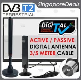 DIGITAL ANTENNA FOR DVB - T2 DVB-T2 DIGITAL READY HD TV WITH 3/5 METER CABLE AV3 HL4